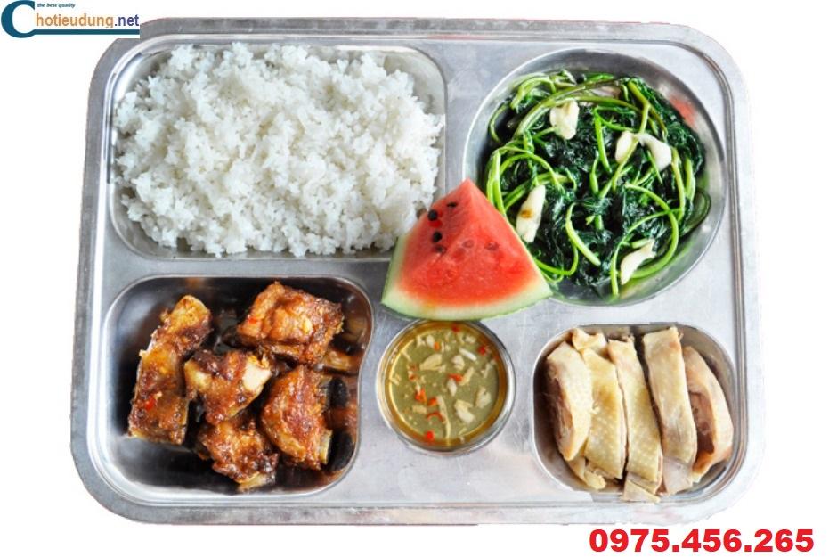 khay cơm inox cho quán ăn