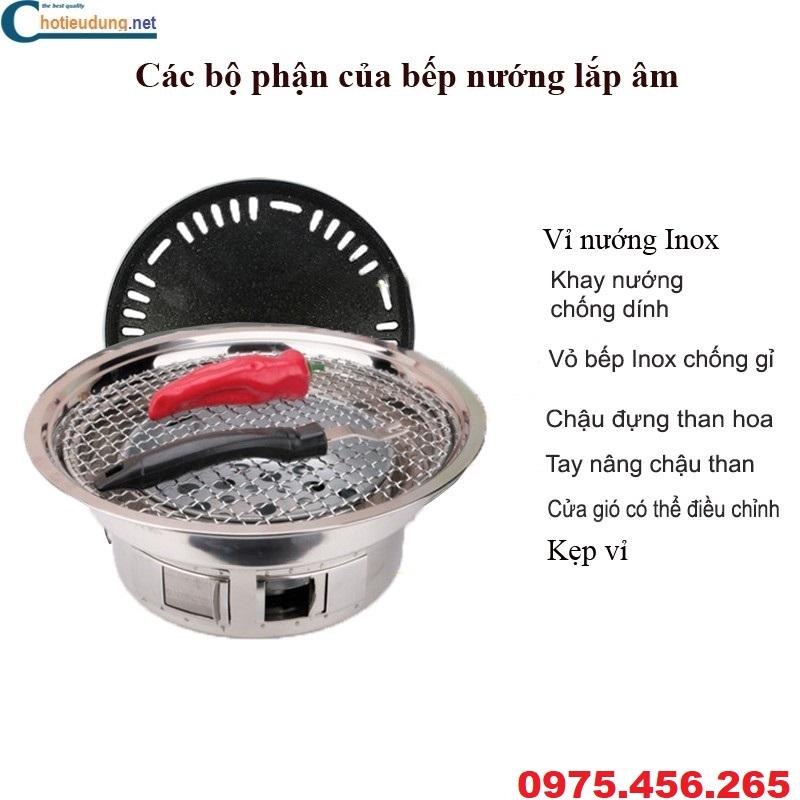 bếp nướng than hoa không khói hút dương