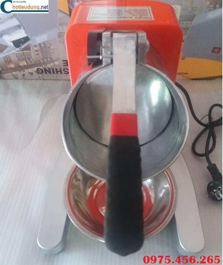mặt trước của máy bào đá tuyết hongke màu cam đậm loại 15kg
