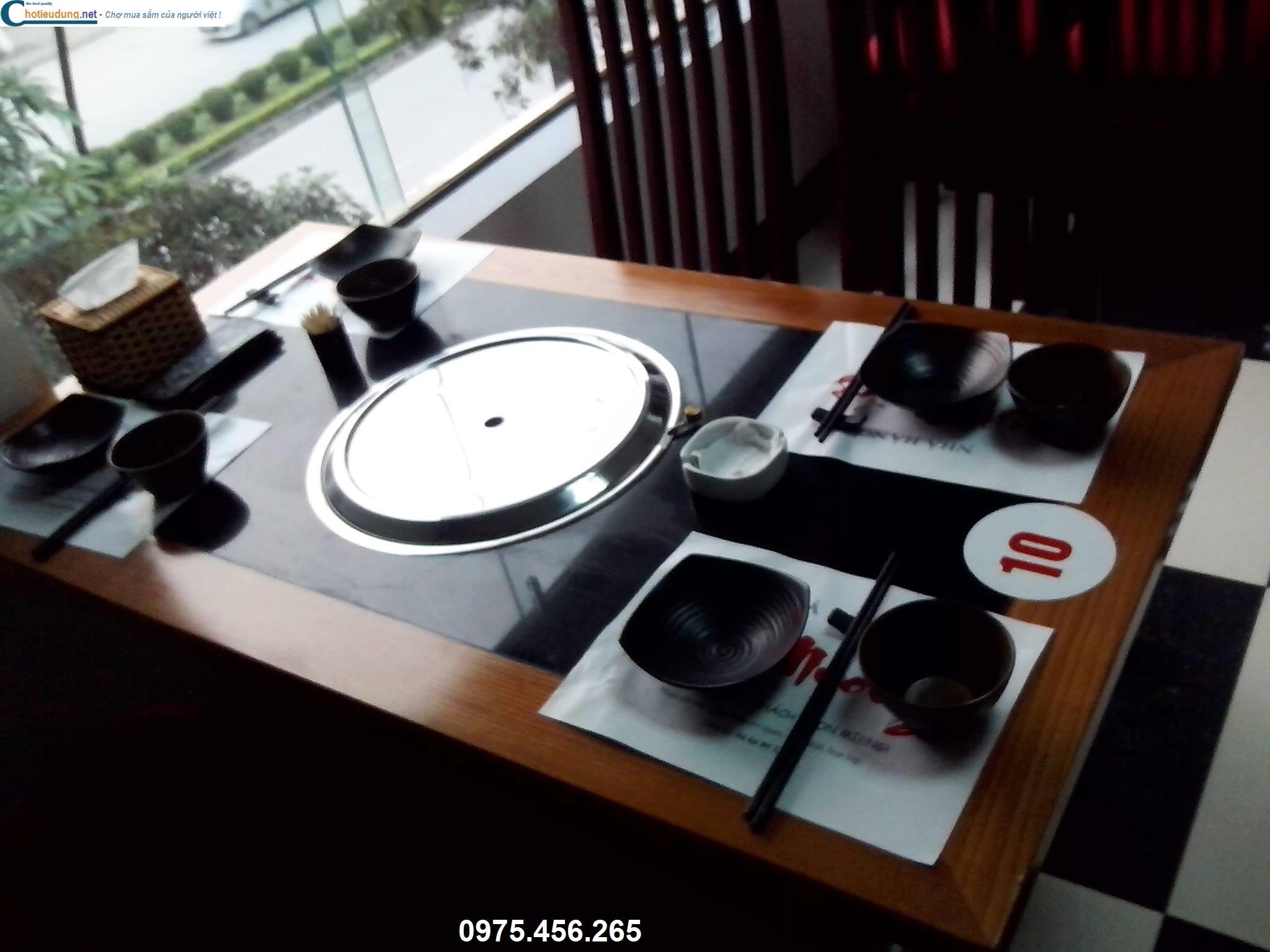 bếp nướng không khói hút âm tại bàn