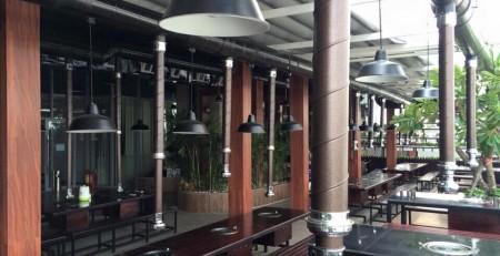 vòi hút mùi bếp nướng không khói nhà hàng