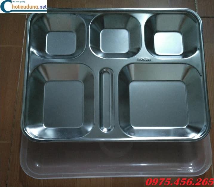 Khay cơm inox 5 ngăn giá rẻ nhất tại hà nội