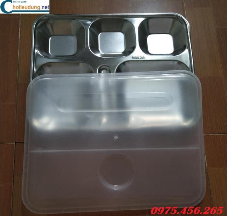 Khay ăn inox 304 có nắp nhựa giá tốt nhất tại hà nội