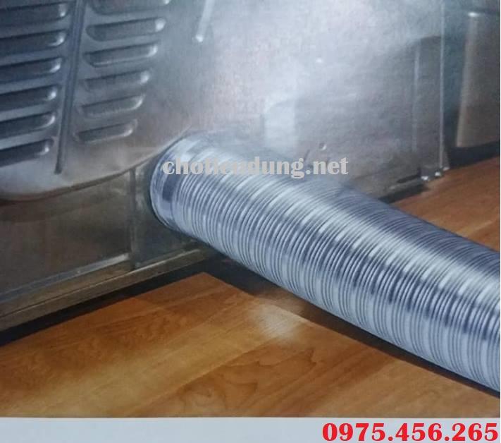 ống nhôm nhún lắp hút mùi nhà bếp