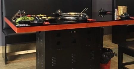 Chân bàn sắt dạng hộp bếp nướng than hoa không khói giá rẻ tại hà nội