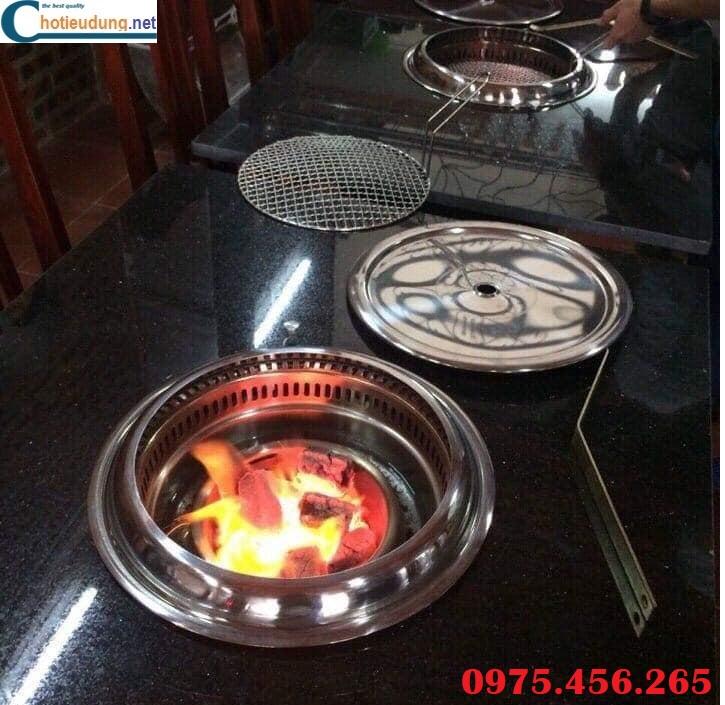 Bếp lẩu nướng âm bàn nhà hàng tại hà nội , bếp nướng than hoa âm bàn giá tốt nhất hiện nay