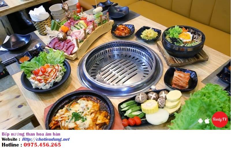 Bếp nướng than hoa âm bàn kiểu hút âm , bếp nướng than hoa hút âm giá rẻ nhất tại tphcm