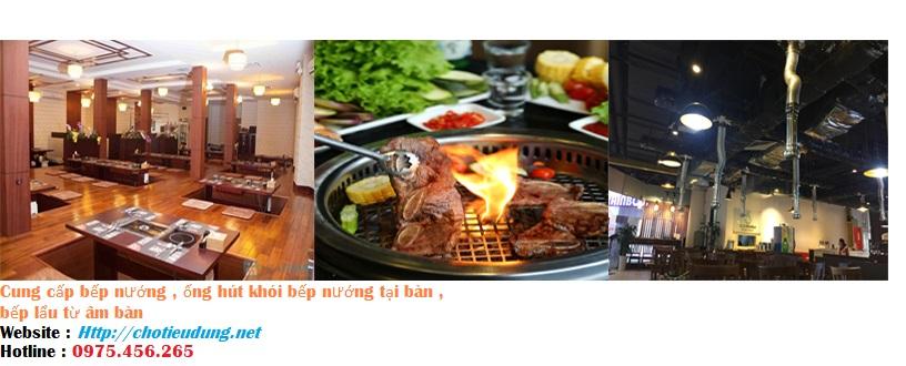 Cung cấp bếp nướng than hoa , bếp lẩu từ âm bàn và thi công hệ thống hút khói cho nhà hàng tại hà nội