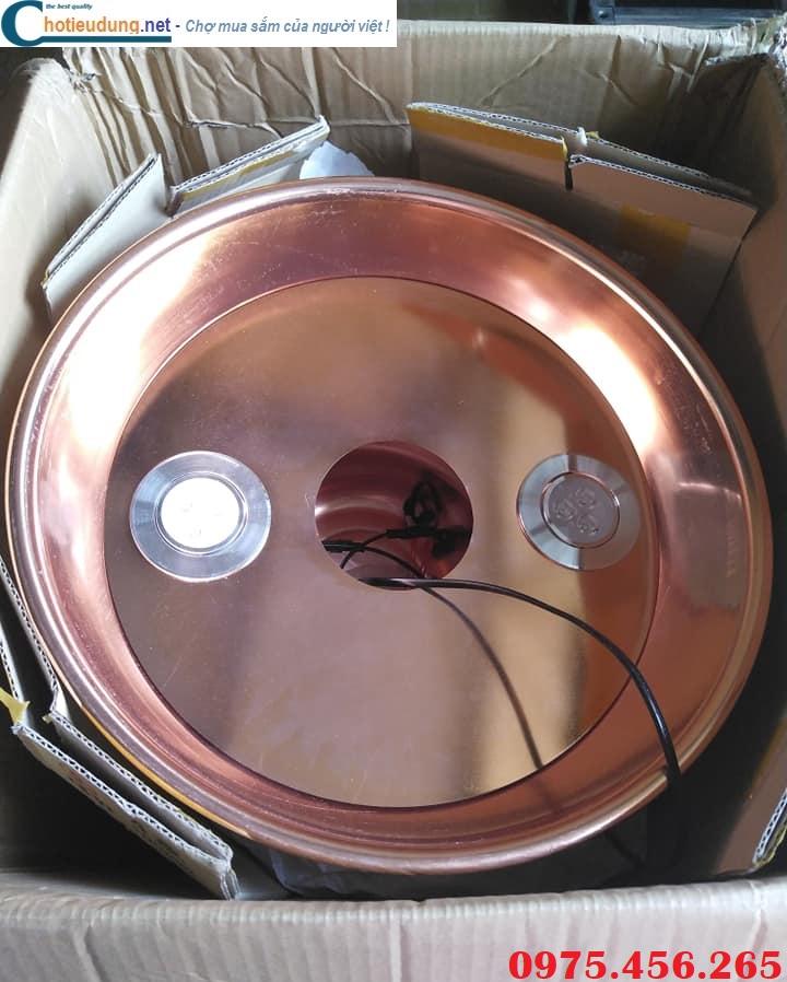 Chao đèn ống hút khói bếp nướng tại bàn màu đồng giá tốt nhất hiện nay