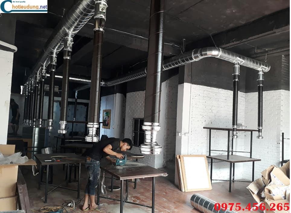 Công ty thiết bị bếp Thiên Phú nhận thiết kế thi công hệ thống hút mùi bếp lẩu nướng than hoa không khói giá tốt nhất