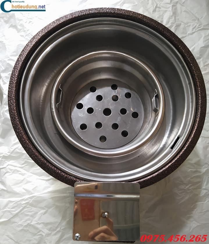 Bán lò nướng than hoa hút dương bằng sắt có quạt thổi than giá rẻ