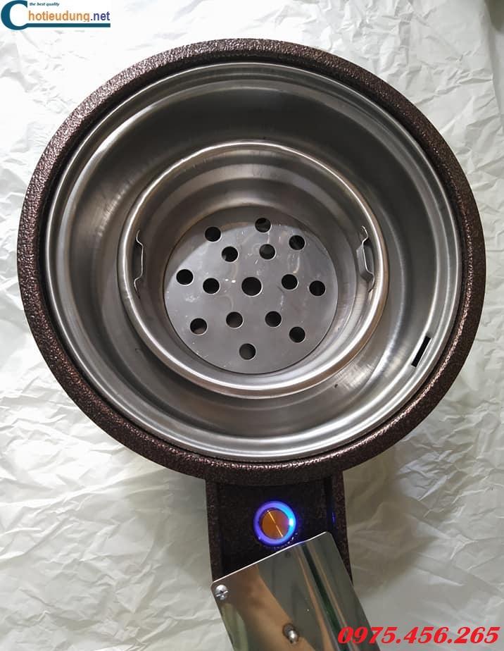 Bếp nướng than hoa hút dương bằng sắt có quạt thổi than tại hà nội