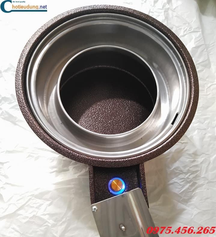 Lò nướng than hoa bằng sắt có quạt thổi than giá ré nhất