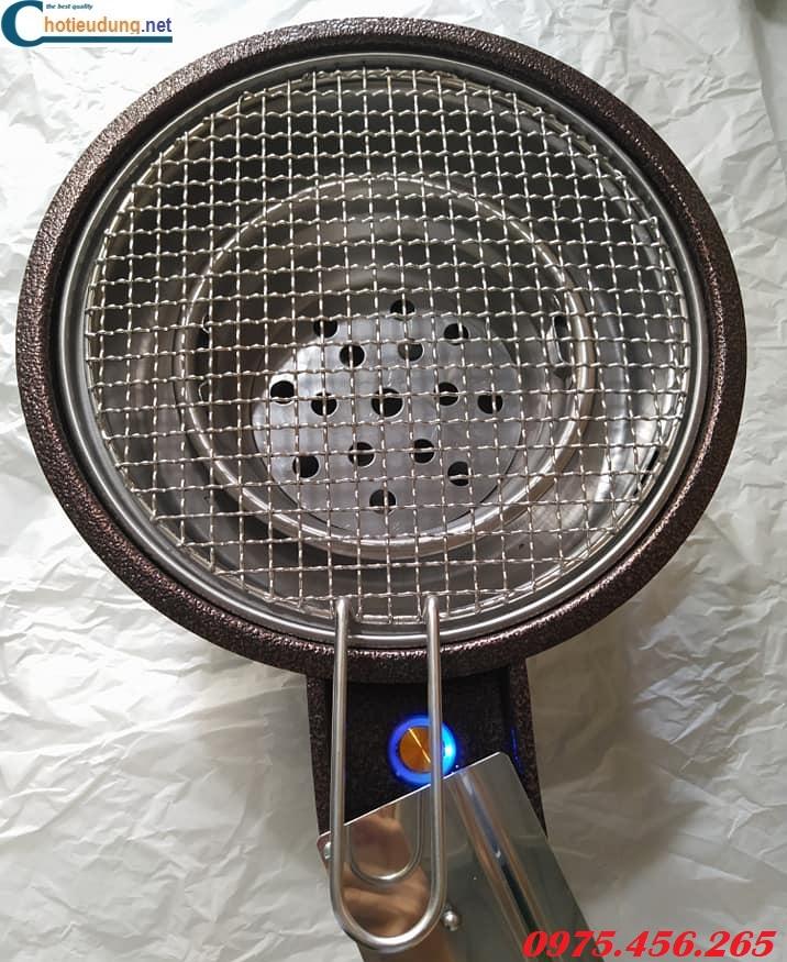 Lò nướng than hoa hút dương bằng sắt có quạt thổi than tại hồ chí minh