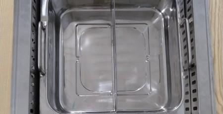 Bếp lẩu 2 ngăn âm bàn nhà hàng tại hà nội