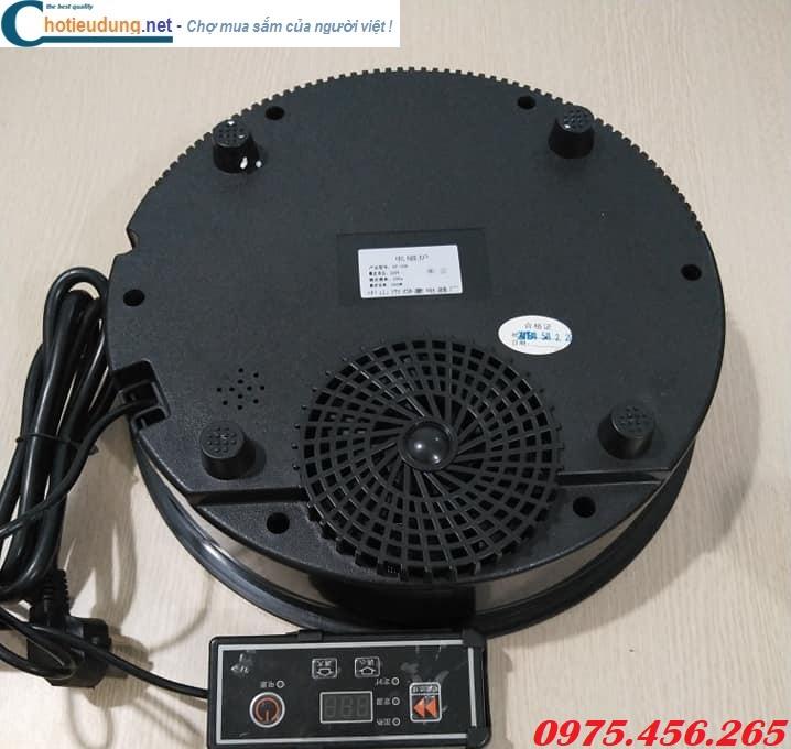 Mặt sau bếp từ lẩu âm bàn tròn IH công suất 800W bảng điều khiển từ xa