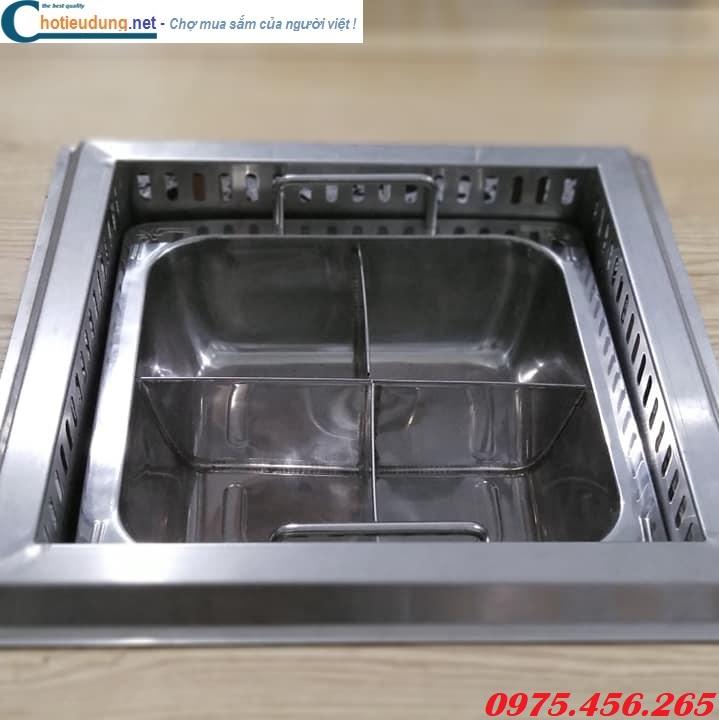 Bếp và nồi lẩu bốn ngăn âm bàn nhà hàng giá tốt nhất tại hà nội