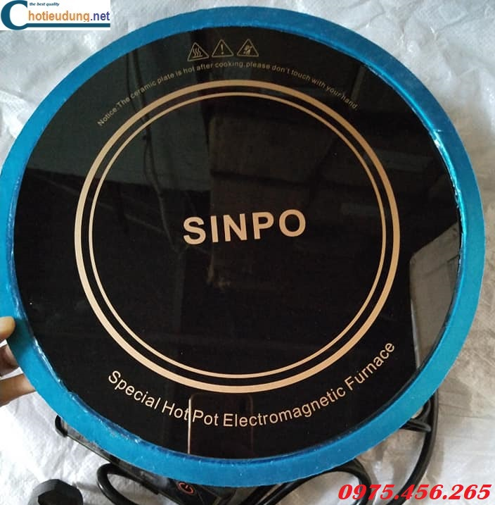 Bếp từ lẩu âm bàn tròn Sinpo công suất 2000W kèm vành đỡ inox giá tốt tại Sài Gòn