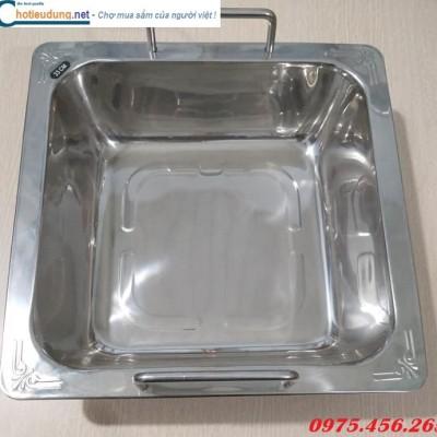 Nồi ( xoong) nấu lẩu inox 1 ngăn cho nhà hàng giá rẻ tại hà nội