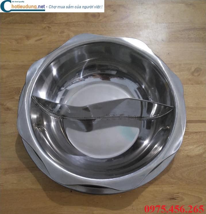 Bếp ( nồi ) lẩu 2 ngăn âm bàn tròn nhà hàng giá rẻ tại sài gòn