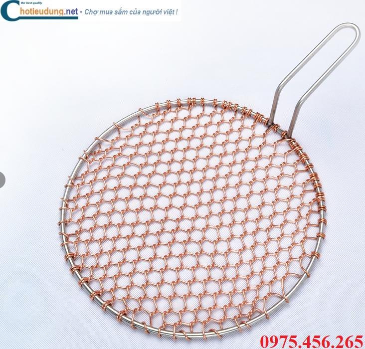 Vỉ nướng đồng nguyên chất dạng lưới có tay cầm giá tốt nhất tại hcm