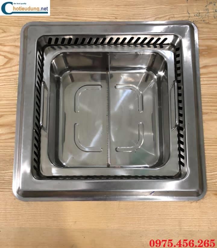 Bếp ( nồi ) lẩu 2 ngăn âm bàn có hút mùi khói giá rẻ , chất lượng tại Hà Nội