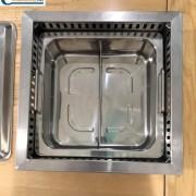 Nơi bán bếp lẩu 2 ngăn âm bàn khung đỡ mặt bằng giá rẻ tại Hà Nội